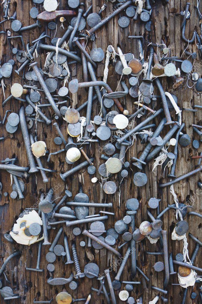 Poste eléctrico uñas — Foto de stock © befehr #118418364