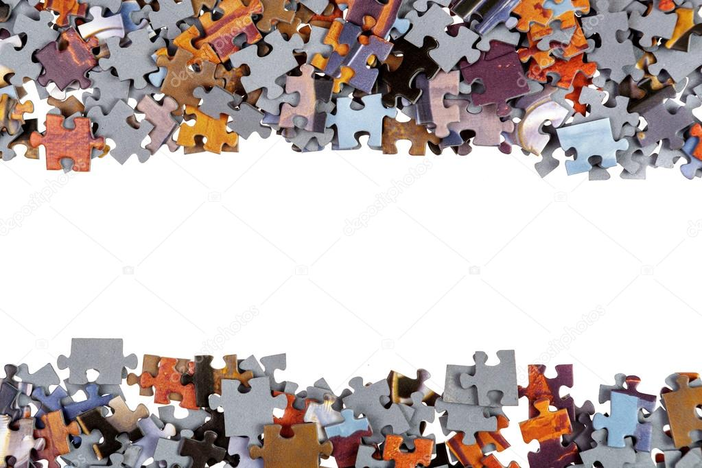 Frame of Jigsaw Puzzle Pieces
