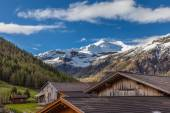 Photo Alpine peaks and alpine huts
