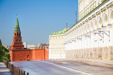 Borovitskaya tower and Grand Kremlin Palace