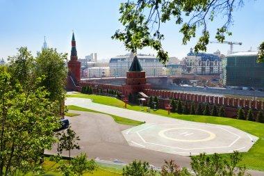 Helipad in Kremlin, Moscow