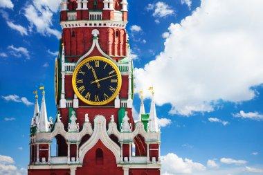 Kremlin Spasskaya tower with clock