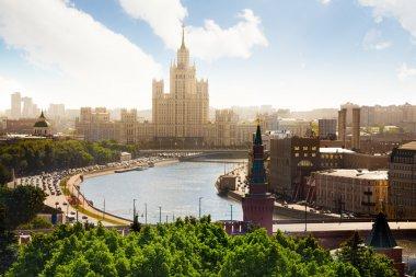 Beautiful view on Kotelnicheskaya embankment