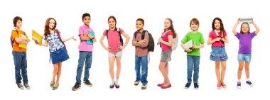 Combination of school kids