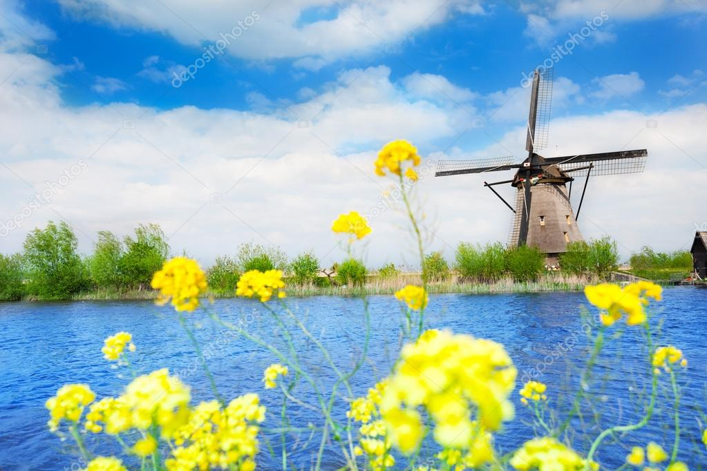 Old windmill in Netherlands