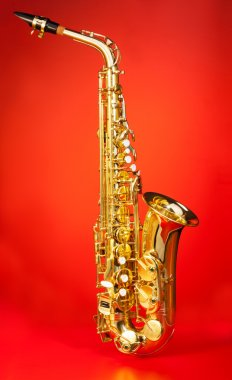 Alto saxophone in full length