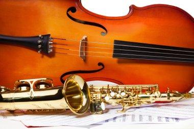Violoncello and alto saxophone