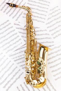 Shiny alto saxophone