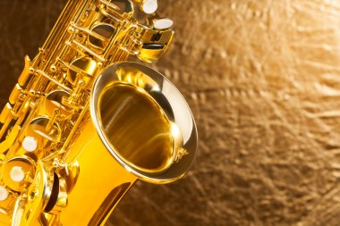 alto saxophone bell and keys