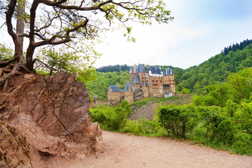 Old path to Eltz castle in Germany