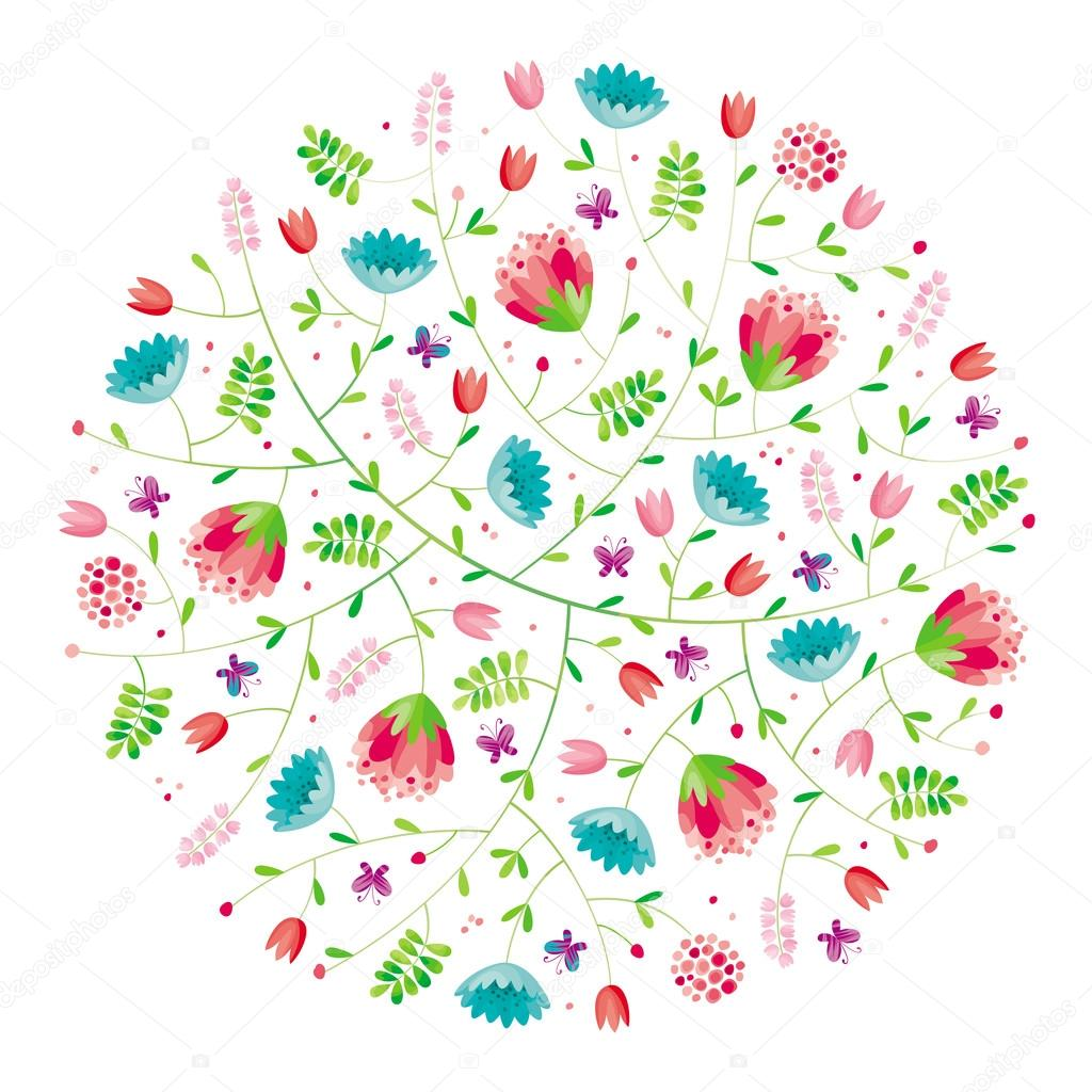 Flower round composition