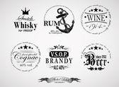 alkohol-Címkék