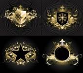 Fotografie ornamental shields