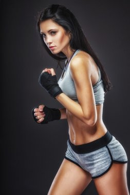 woman boxer portrait