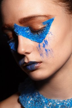 fashion model with creative makeup
