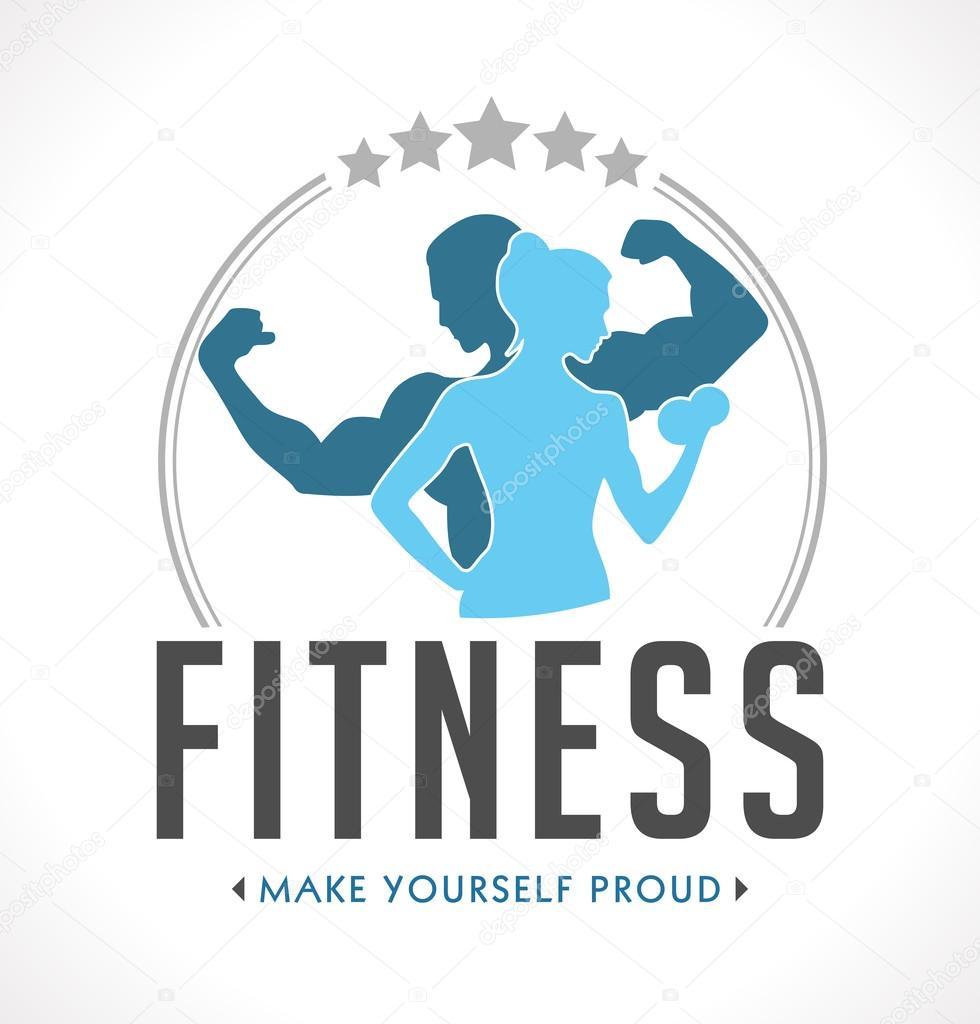 Fitness logo GYM — Stock Vector © kosecki #122486370 for Fitness Logo Vector Free Download  570bof