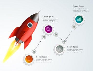 Rocket infographic illustration