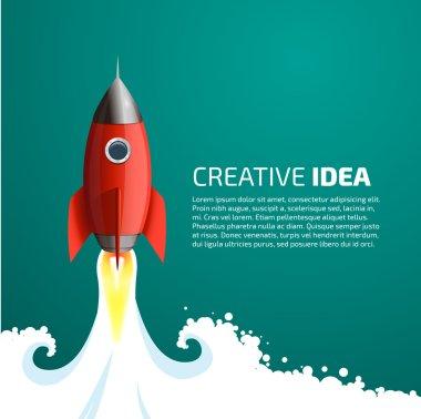 Rocket - creative idea