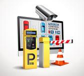 Fotografie Parking payment station - access control concept