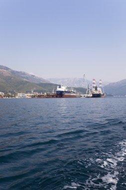 cargo ships. Montenegro