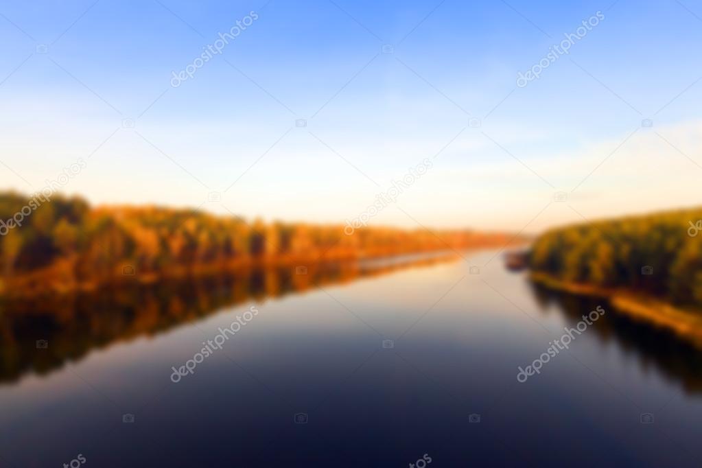 river in autumn season
