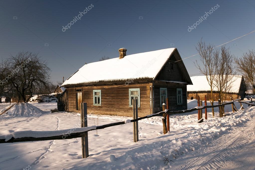 farmhouse . countryside. winter