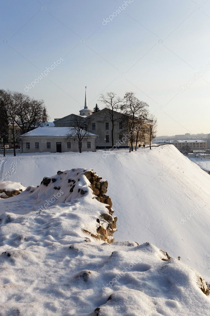 ancient castle .  Grodno, Belarus