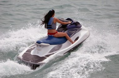 Young Woman Jet Skier