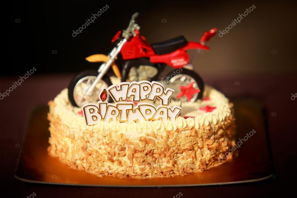 Peachy Images Motorcycle Birthday Birthday Cake Decorated With Personalised Birthday Cards Epsylily Jamesorg
