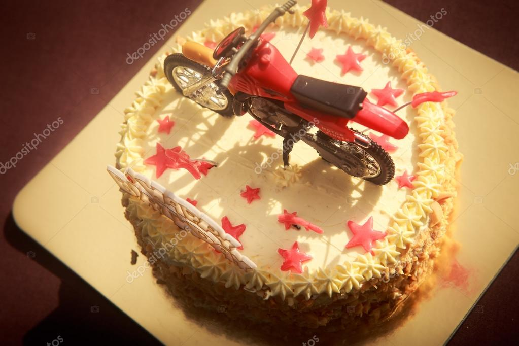 Prime Images Happy Birthday Motorcycle Birthday Cake Decorated With Funny Birthday Cards Online Alyptdamsfinfo