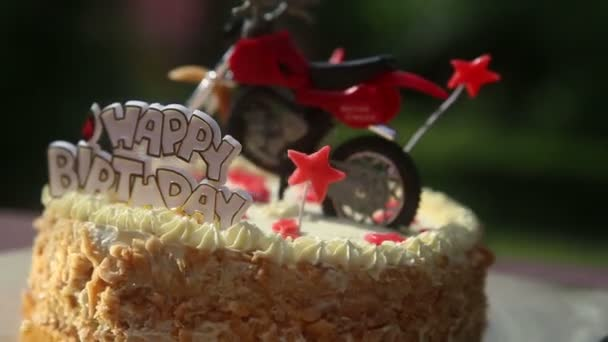 Birthday Motorcycle Cake Stock Video C Smoliakov 61618547