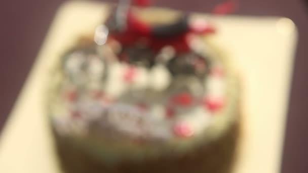 Narozeninový dort s postavou motocyklu