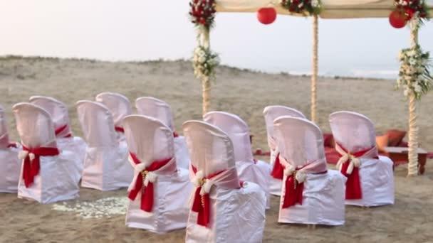 Wedding ceremony on ocean