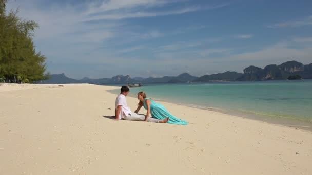 Couple on tropical island