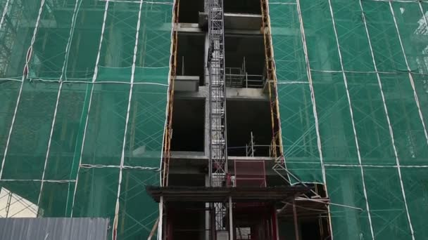 Scaffolding  in skyscraper building