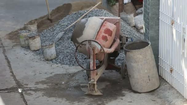 Betonmischer-Mischungen-Zement