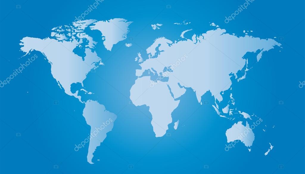 Illustration De Carte Du Monde Avec Les Plus Grandes Villes