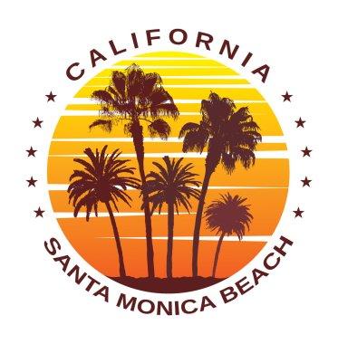 Travel Background for Santa Monica, California.