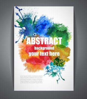 Colorful Vector Background with Watercolor Effect.