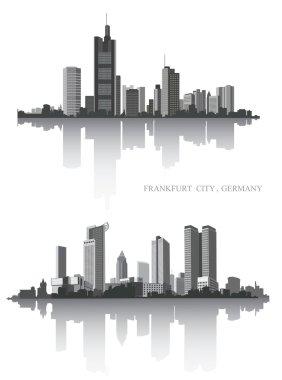 Frankfurt city. Urban panorama.