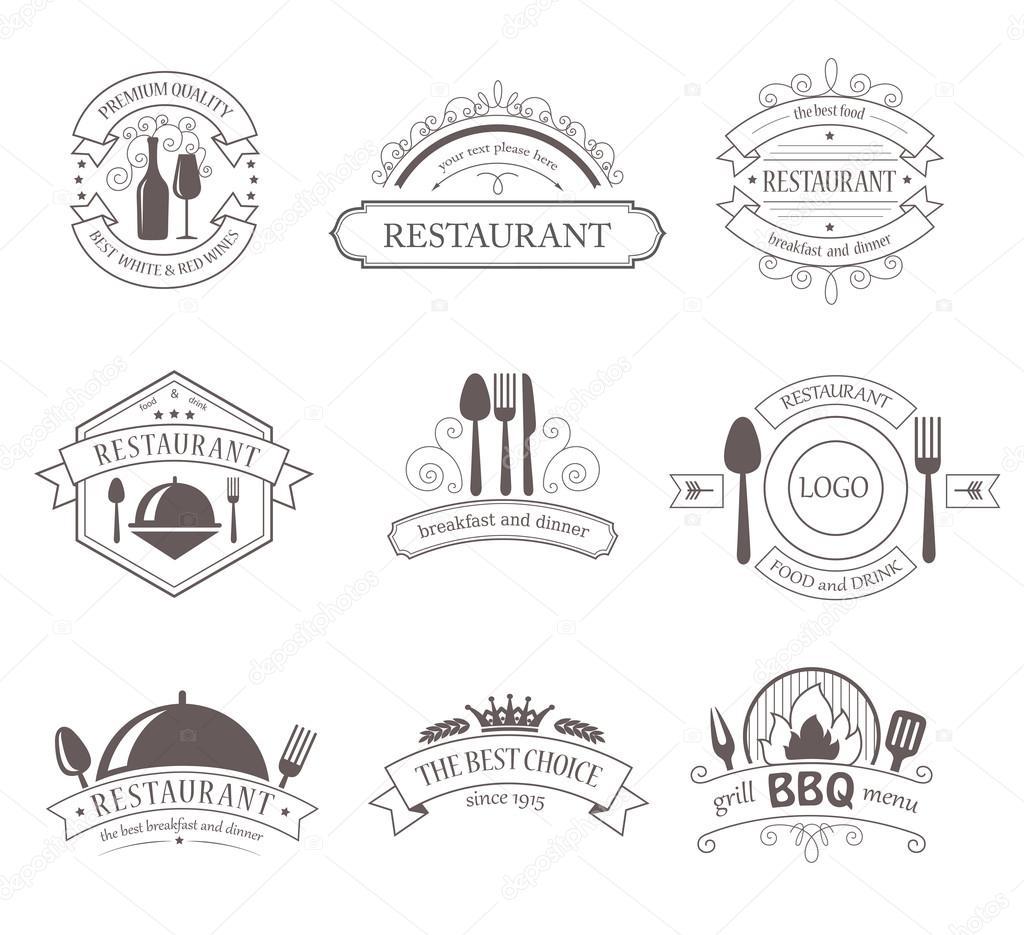 Conjunto de etiquetas de decoración Vintage. Estilo retro diseño ...