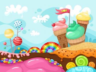 sweet landscape illustration