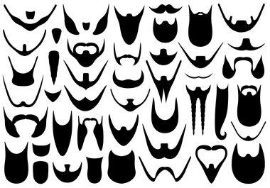 Set of different beards