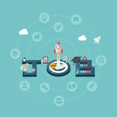 Career Job Success Design Concept Background