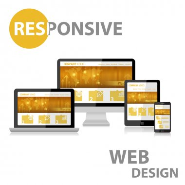 Responsive Web Design on Various Device stock vector