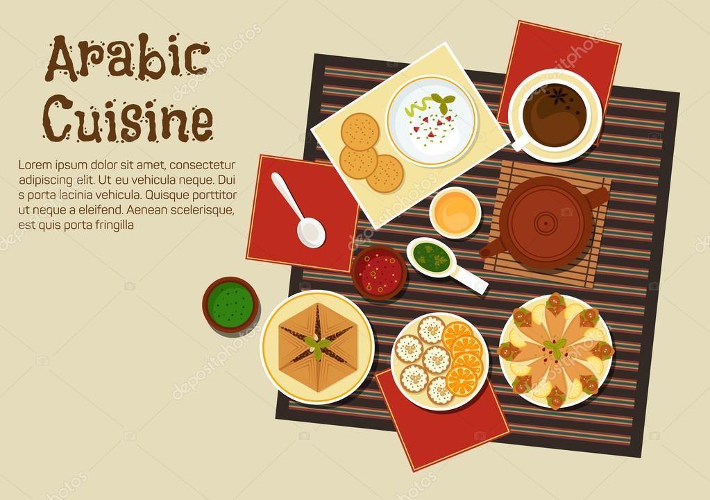 Traditional arabian and turkish cuisine stock vector seamartini traditional arabian and turkish cuisine stock vector forumfinder Images