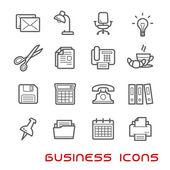 Kancelářské a tenká linie ikony