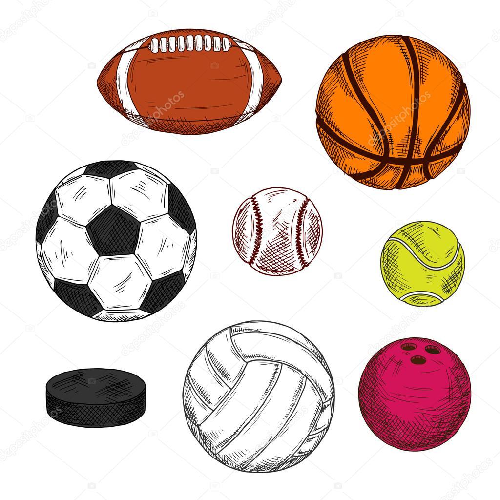 Retrato retrô de disco de hóquei de gelo com bolas coloridas para futebol b9f27512faa9a