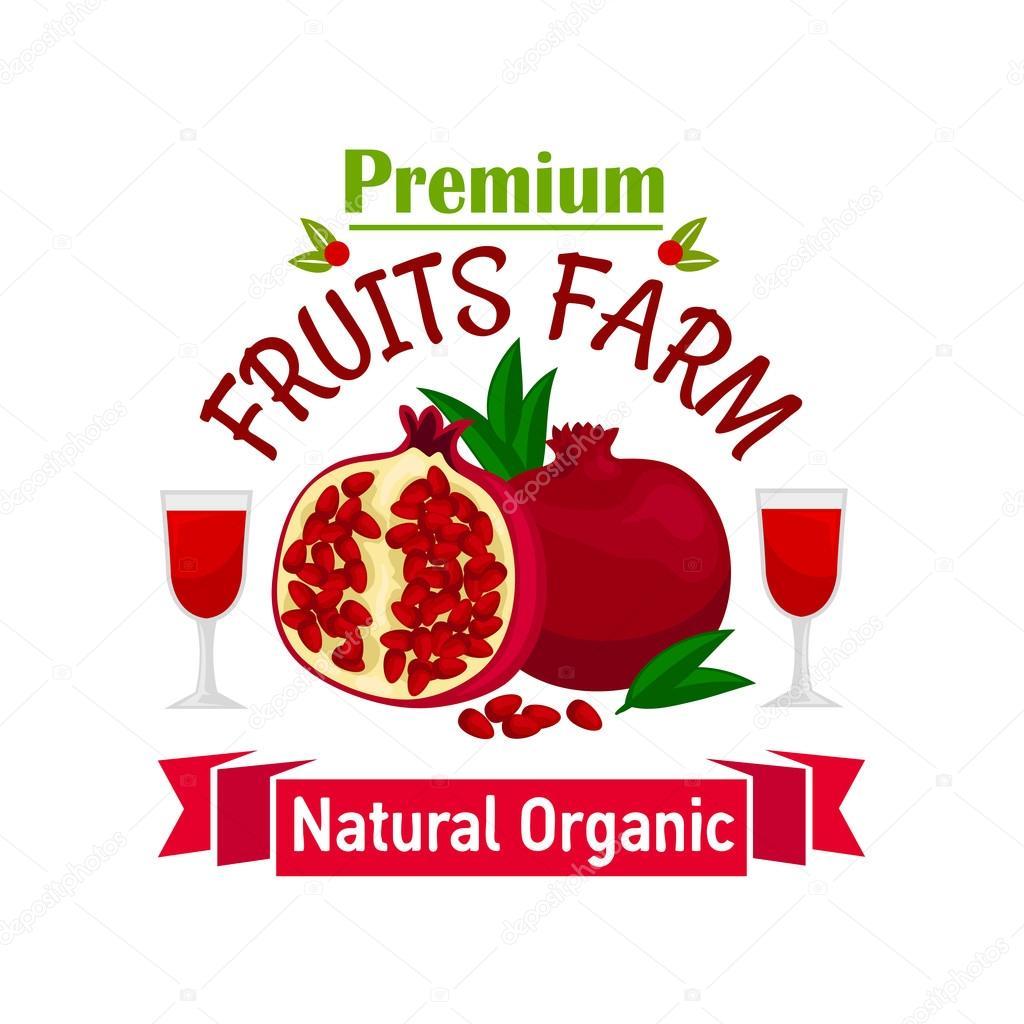 Pomegranate Fruit Symbol For Food Design