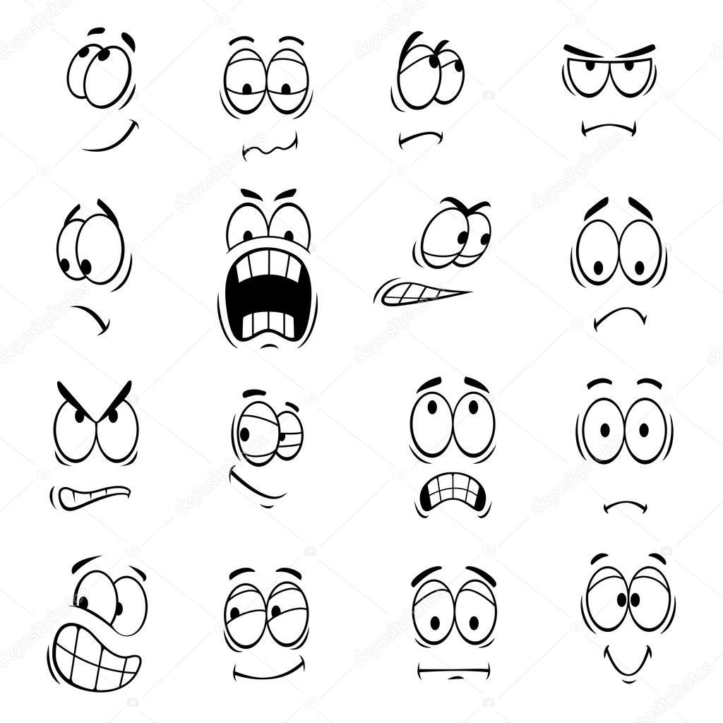 Human Cartoon Eyes Emoticons Symbols Stock Vector Seamartini